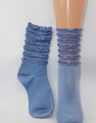 Ruffel blauw paars glitter