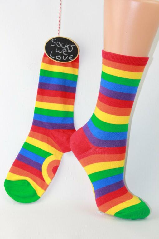 rainbow streep enkelsok